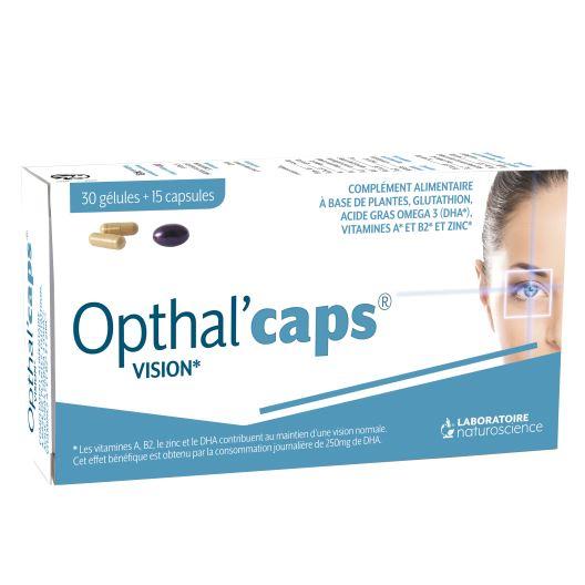 Vitamines pour la vue Opthtal'Caps - Laboratoire Naturoscience