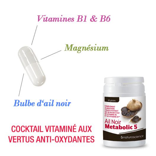 Ail Noir Metabolic 5 - Cocktail vitaminé aux vertus anti-oxydantes