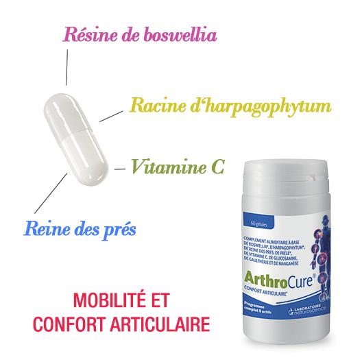 Arthrocure ingredients - Mobilité et confort articulaire