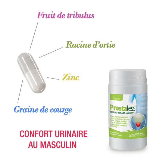 Prostaless ingredients - Confort urinaire au masculin