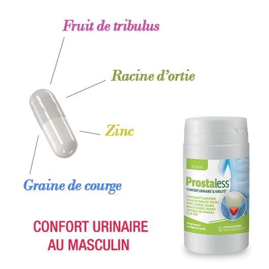 Prostaless ingredients - Confort urinaire au masculin