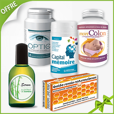 Offre Santé Optimale<br /><sous-titre><normal-weight>L'occasion de découvrir des</normal-weight> compléments de qualité au service de votre bien-être.</sous-titre><p><b>Résistez aux virus et Boostez votre IMMUNITÉ - Préservez votre mémoire - Purifiez votre organisme - Améliorez votre vision - Apaisez vos douleurs articulaires</b></p>