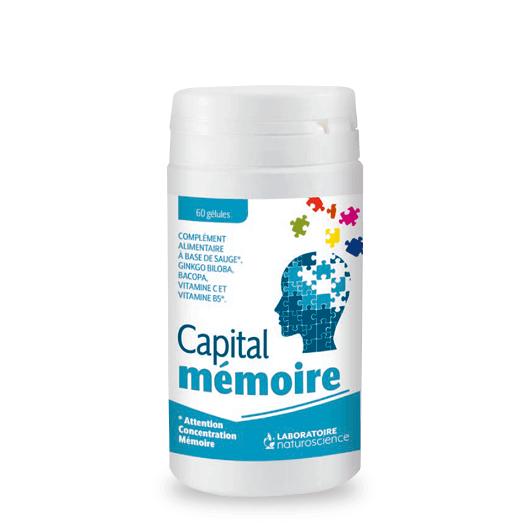 Vitamines C et B5 Capital Mémoire attaque - Laboratoire Naturoscience