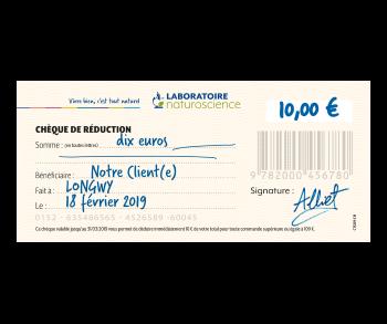 Chèque cadeau - Laboratoire Naturoscience